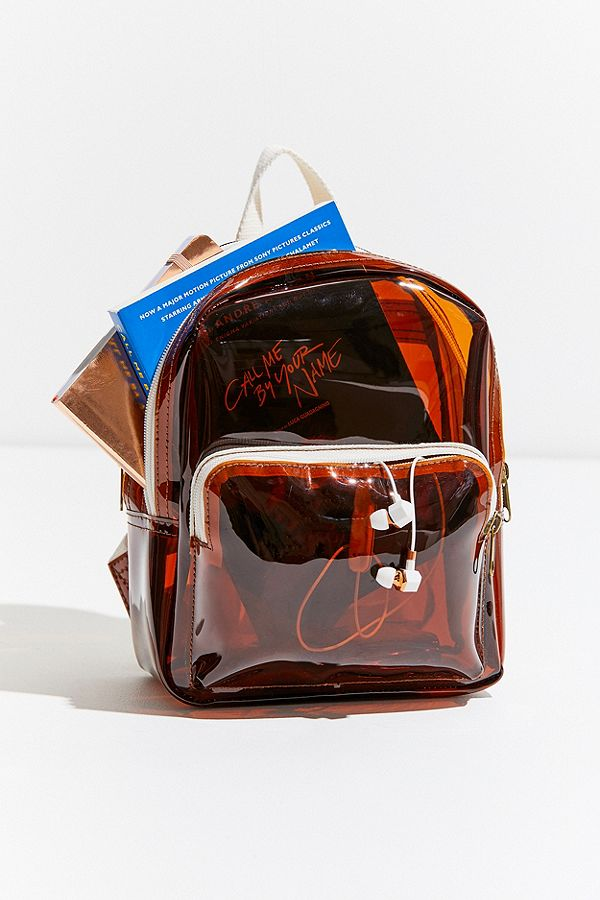 UO Clear Mini Backpack in Brown | Clear Purses and Bags