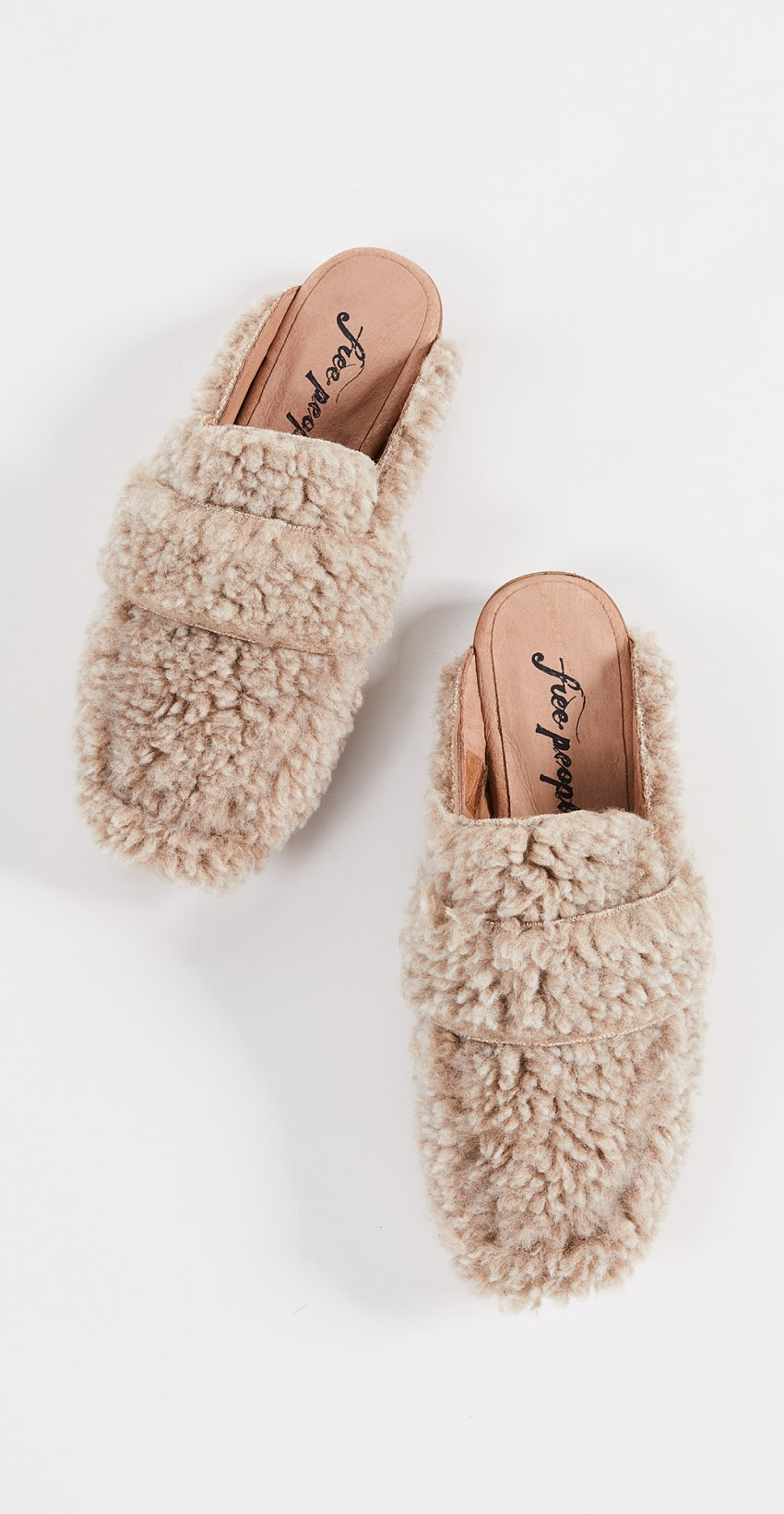 Free People Faux Shearling Mules | ACCESSORIZING FALL 2018