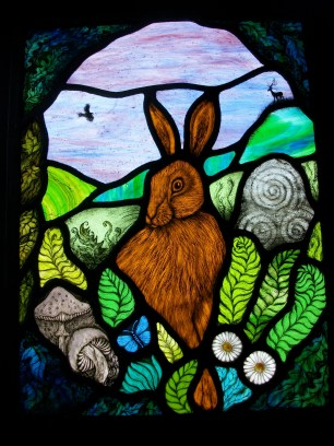 Hare Moon Stained Glass Artwork