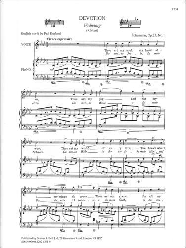 Schumann, Robert: Widmung (Devotion). A Flat Major