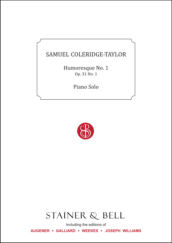 Coleridge-Taylor, Samuel: Humoresque No. 1, Op. 31 No. 1. Piano Solo