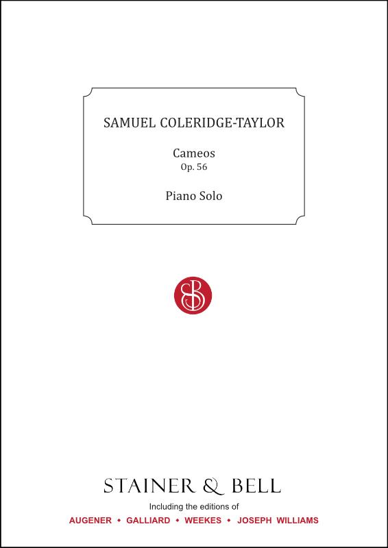 Coleridge-Taylor, Samuel: Cameos, Op. 56. Piano Solo