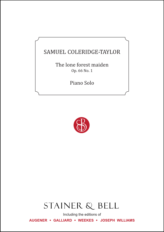 Coleridge-Taylor, Samuel: The Lone Forest Maiden, Op. 66 No. 1. Piano Solo