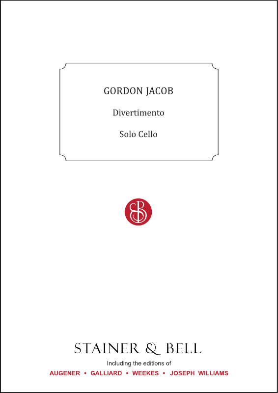 Jacob, Gordon: Divertimento. Solo Cello