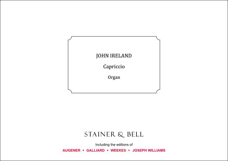 Ireland, John: Capriccio. Organ