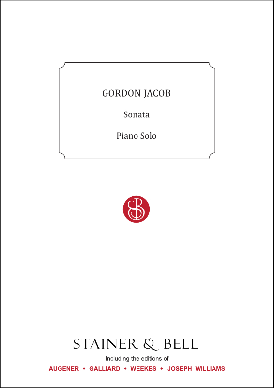 Jacob, Gordon: Sonata. Piano Solo