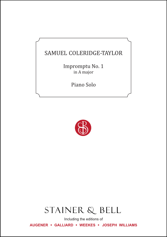 Coleridge-Taylor, Samuel: Impromptu No. 1 In A. Piano Solo