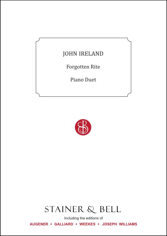 Ireland, John: Forgotten Rite. Arr Piano Duet
