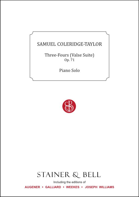 Coleridge-Taylor, Samuel: Three-Fours (Valse Suite), Op. 71. Piano Solo