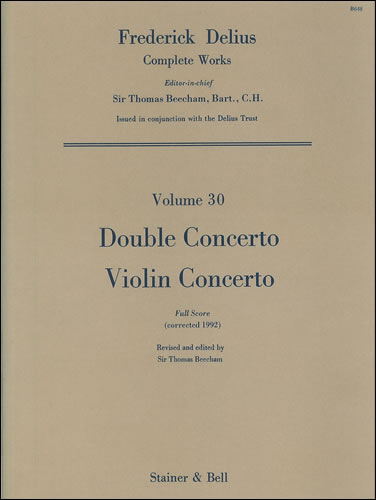 Delius, Frederick: Double Concerto And Violin Concerto. Full Score
