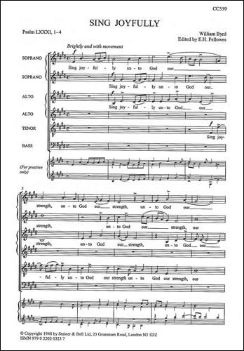 Byrd, William: Sing Joyfully