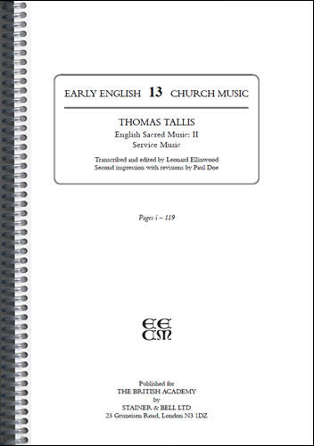 Tallis, Thomas: II – English Sacred Music: II – Service Music