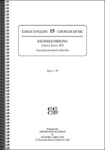 Dering, Richard: Cantica Sacra, 1618