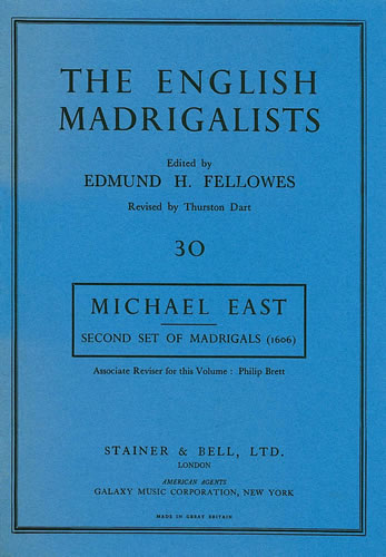 East, Michael: Second Set Of Madrigals (1606)