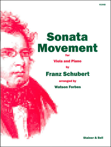Schubert, Franz: Sonata Movement Arranged For Viola And Piano