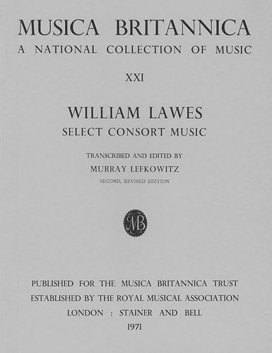 Lawes, William: Consort Music