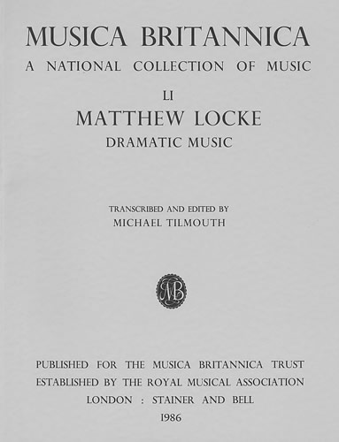 Locke, Matthew: Dramatic Music (including Psyche)
