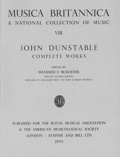 Dunstable, John: Complete Works