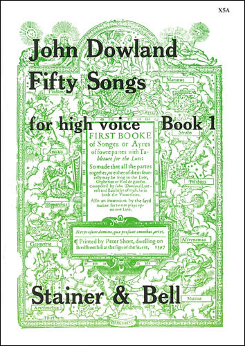 Dowland, John: Fifty Songs. Book 1. High Voice