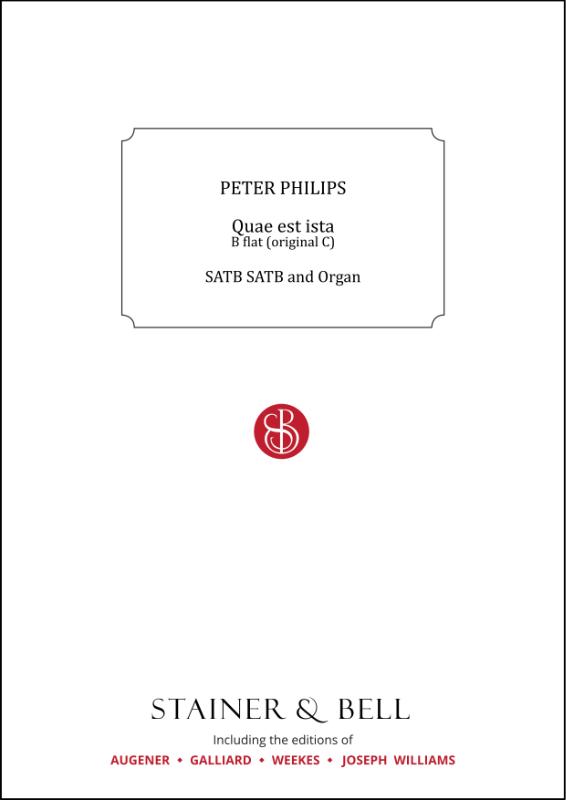 Philips, Peter: Quae Est Ista. B Flat (orig. C)