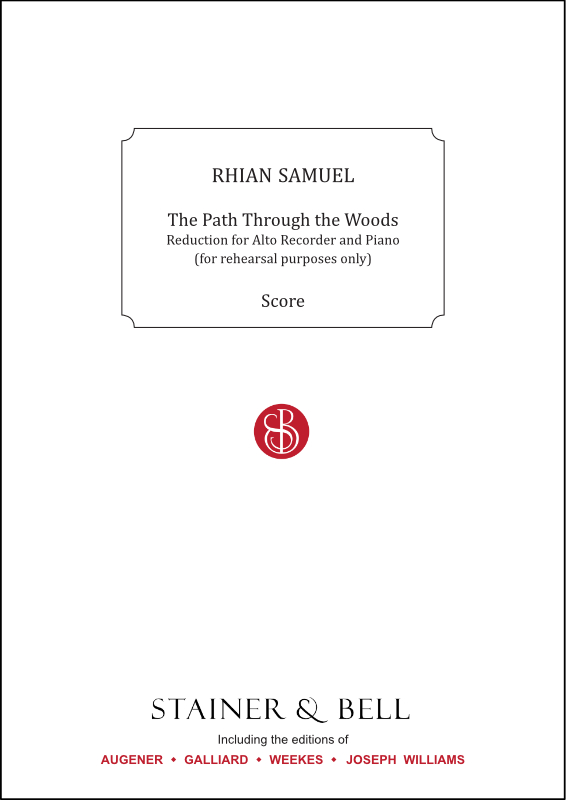 Samuel, Rhian: Path Through The Woods, The. Alto Recorder & Piano