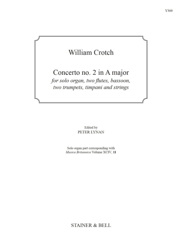 Crotch, William: Concerto No. 2 In A Major