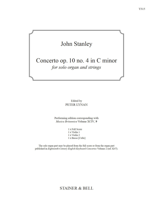 Stanley, John: Concerto Op. 10 No. 4 In C Minor