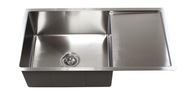 """36"""" Stainless Steel Undermount Kitchen Sink W/ Drain Board"""