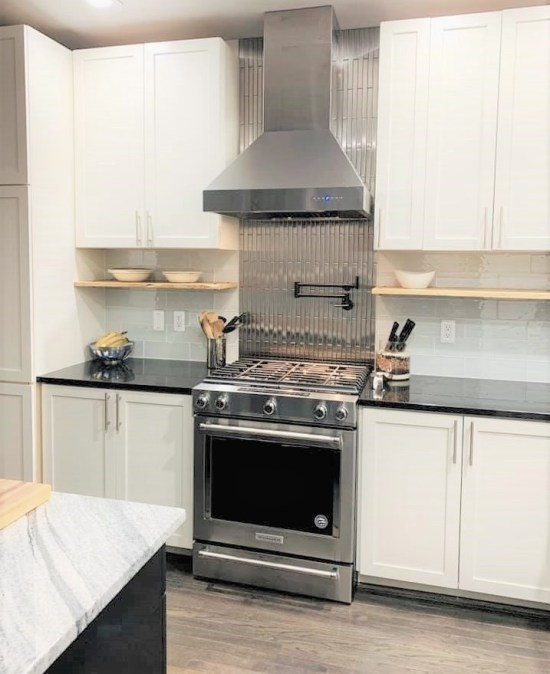 1 X 12 Stainless Steel Backsplash Project