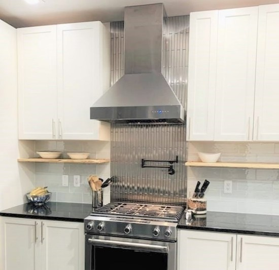1 X 12 Stainless Steel Backsplash Project M4 3
