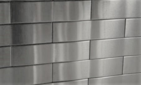 2.5x12 Accent Woven Stainless Steel Tile For 3d Mtal Backsplash Project X4 1