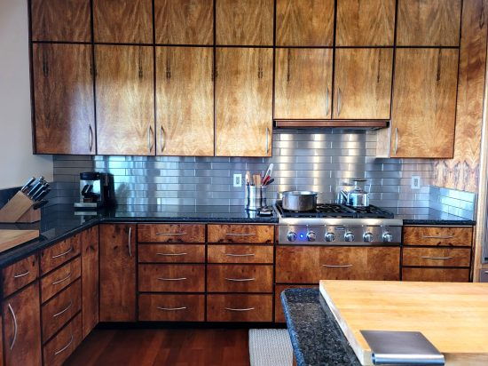 2.5x12 Stainless Steel Tile Backsplash Hawi Hawaii Project S5 3 1