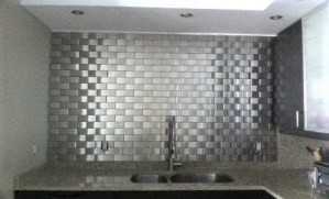 2.5x6 Accent Woven Stainless Steel Backsplash Project L4 1