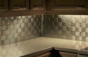 2.5x6 Accent Woven Stainless Steel Backsplash Project L5 1
