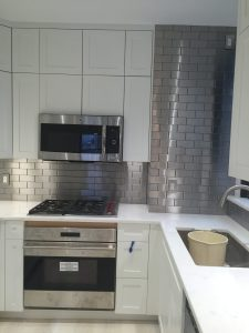 2.5x6 Stainless Steel Backsplash Project J12