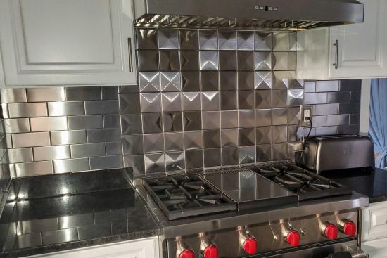 4x4 3d Stainless Steel Backsplash Project J15 4