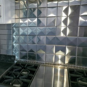 4x4 3d Stainless Steel Backsplash Project J15 5
