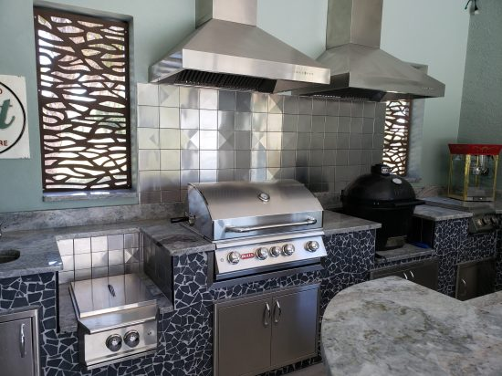 6x6 Stainless Steel Tile Backsplash Project H3 2