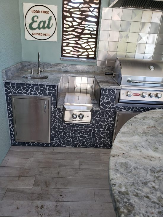6x6 Stainless Steel Tile Backsplash Project H3 3