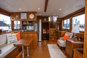 North Pacific Yachts 45 Pilothouse Interior