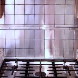 Stainless Steel Backsplash Project M2 4