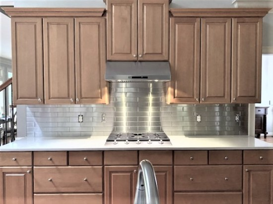Stainless Steel Backsplash Project S3 1