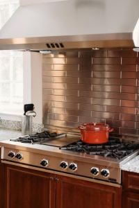 Stainless Steel Backsplash Project S35 Picture From Hgtv Article 20 Metal Kitchen Backsplashes