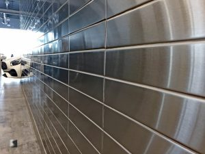 Stainless Steel Tile Mercedes Dealership 3