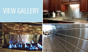 View our gallery of beautiful Stainless Steel Tiles