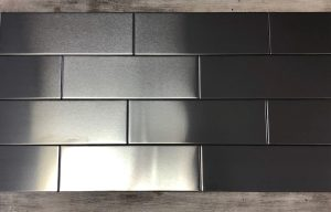 4 x 12 Stainless Steel Subway Tile