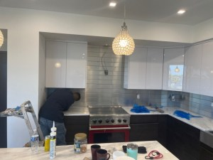 Stainless Steel Backsplash Project