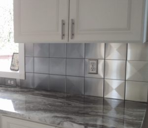 6x6 Stainless Steel Tile Backsplash Project H4 3 Scaled