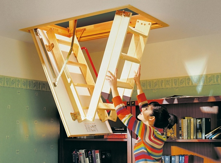 Folding ladder construction