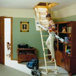 Light wooden ladder Velta